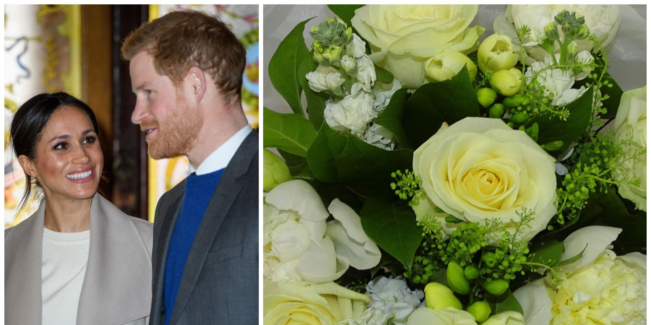 Prince Harry And Meghan Markle Visit Northern Ireland / Waitrose royal wedding bouquet