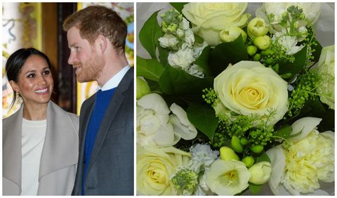 Prince Harry And Meghan Markle Visit Northern Ireland / Waitrose royal wedding bouquet