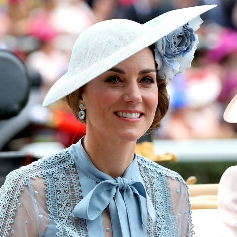 Kate Middleton looks elegant in cornflower blue at Royal Ascot 2019