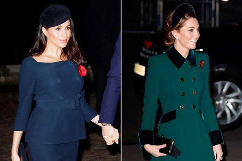 45d515473 Meghan Markle y Kate Middleton en el Remembrance Day en la Abadía de  Westminster