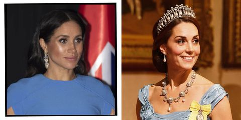 7651f04770bd Why Kate Middleton Wore A Tiara But Meghan Markle Didn t During ...