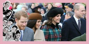 Kate Middleton, Meghan Markle, Prins William en Prins Harry