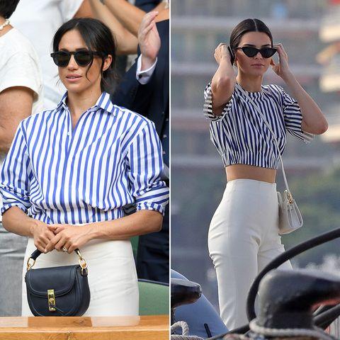 f49df72573 Meghan Markle se inspiró en Kendall Jenner para su look de Wimbledon ...