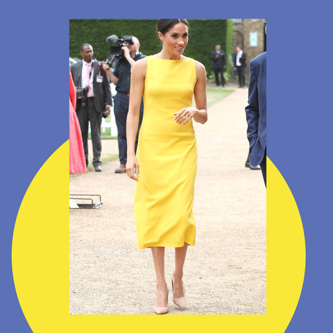 Clothing, Dress, Yellow, Shoulder, Fashion model, Fashion, Cocktail dress, Formal wear, Neck, Bridal party dress,