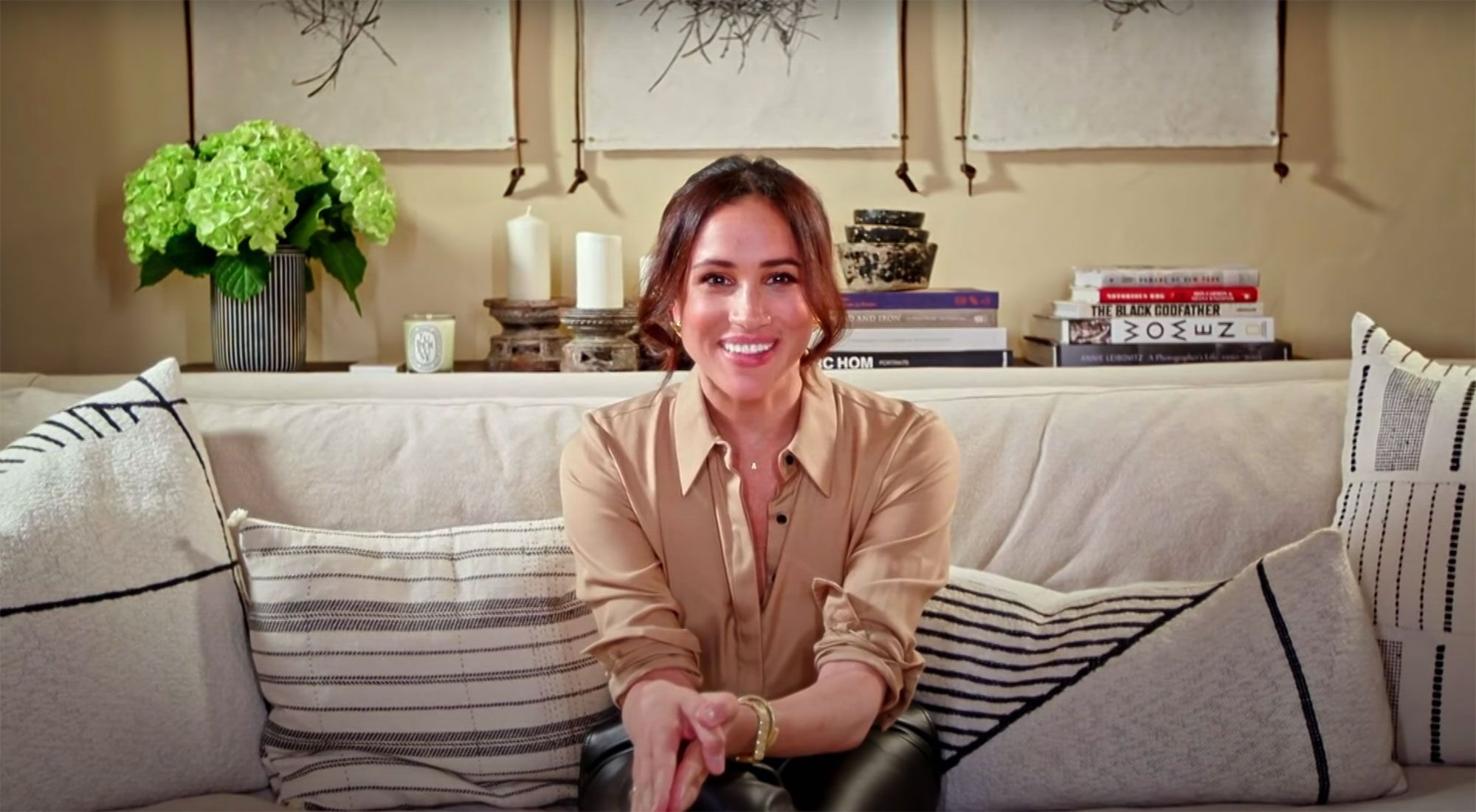 Meghan Markle Shows Off Her Living Room While Wishing America's Got Talent's Archie Williams Luck
