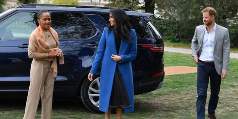 Meghan markle blue coat