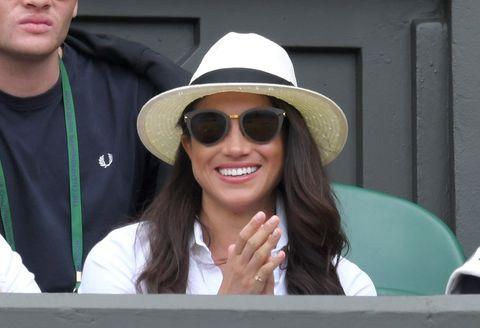 225c01245fa Meghan Markle Wasn t Allowed to Wear a Hat at Wimbledon - Meghan ...