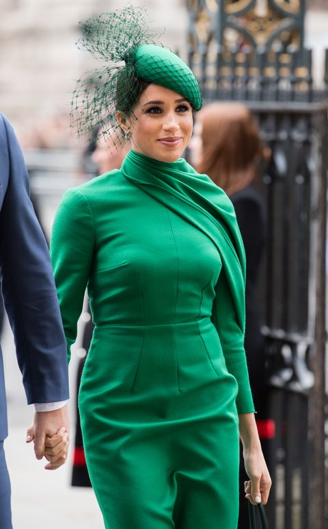 meghan markle with green dress