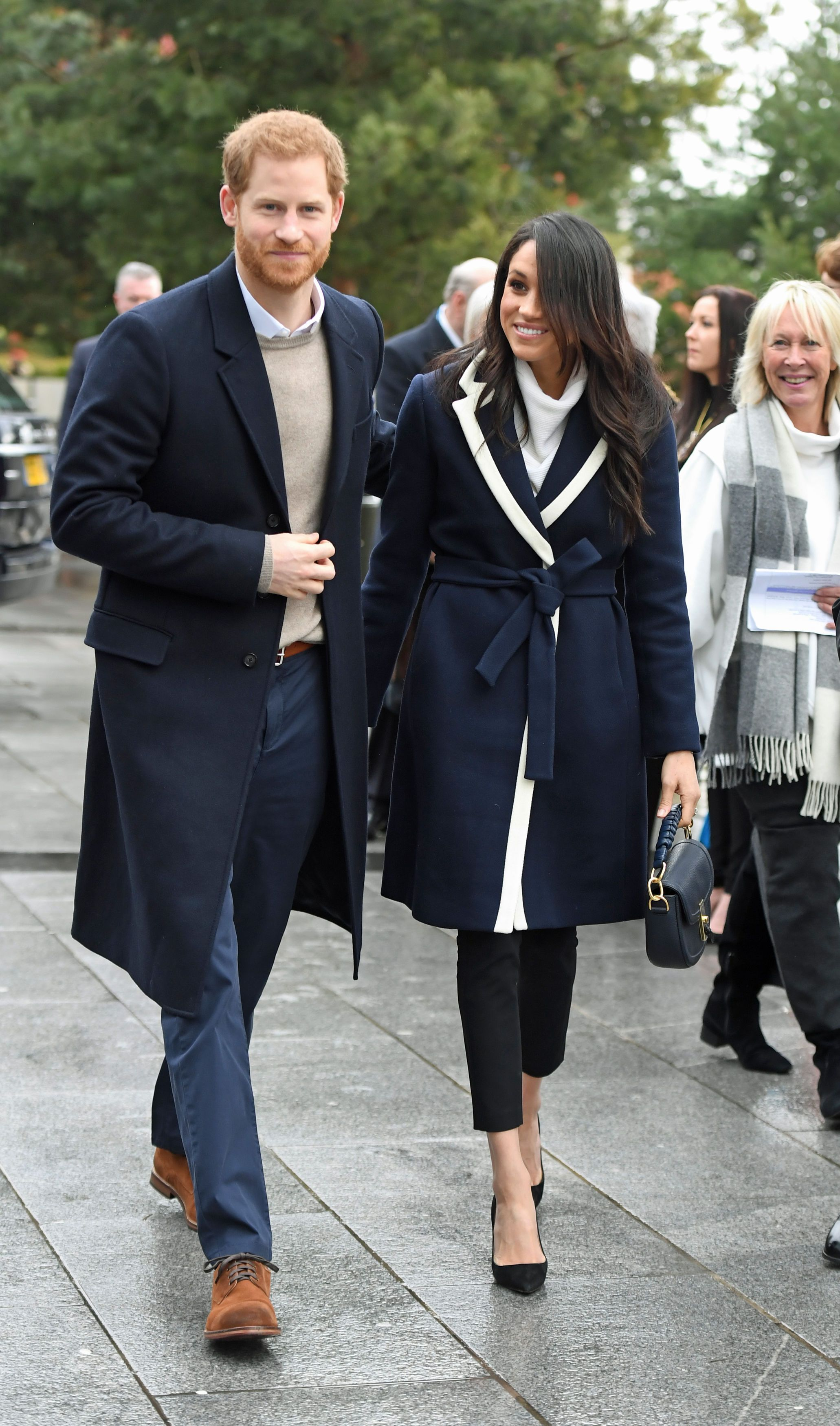 e76894d4e43 Meghan Markle wears white All Saints jumper for royal engagement on ...