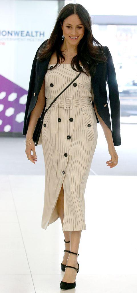 23fb145a728d Meghan Markle Wore a Stunning Altuzarra Dress and Black Blazer Today