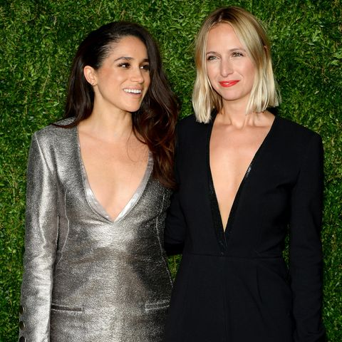 misha nonoo and meghan markle on the red carpet in 2015