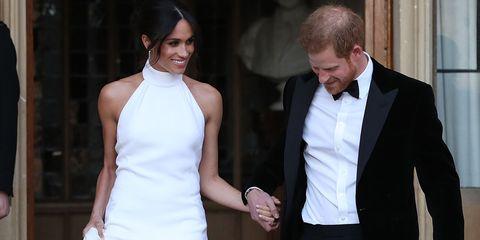 Meghan Markle royal wedding day arms