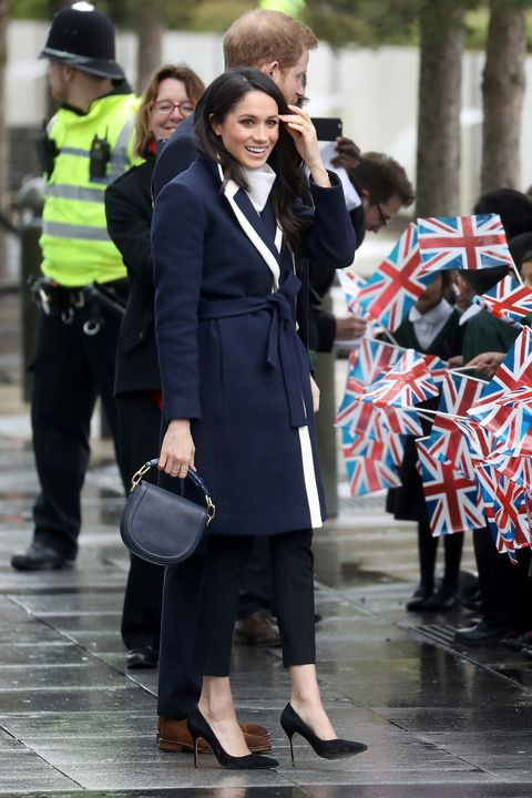 443e8a5e5a489 Meghan Markle wears affordable J Crew coat for appearance in Birmingham