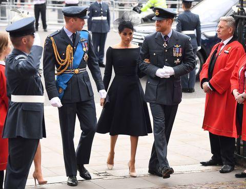 Meghan Markle black dress at RAF service
