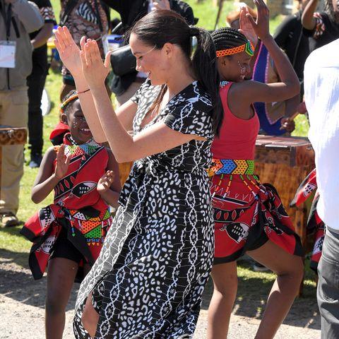Meghan Markle, dance, royal Africa tour