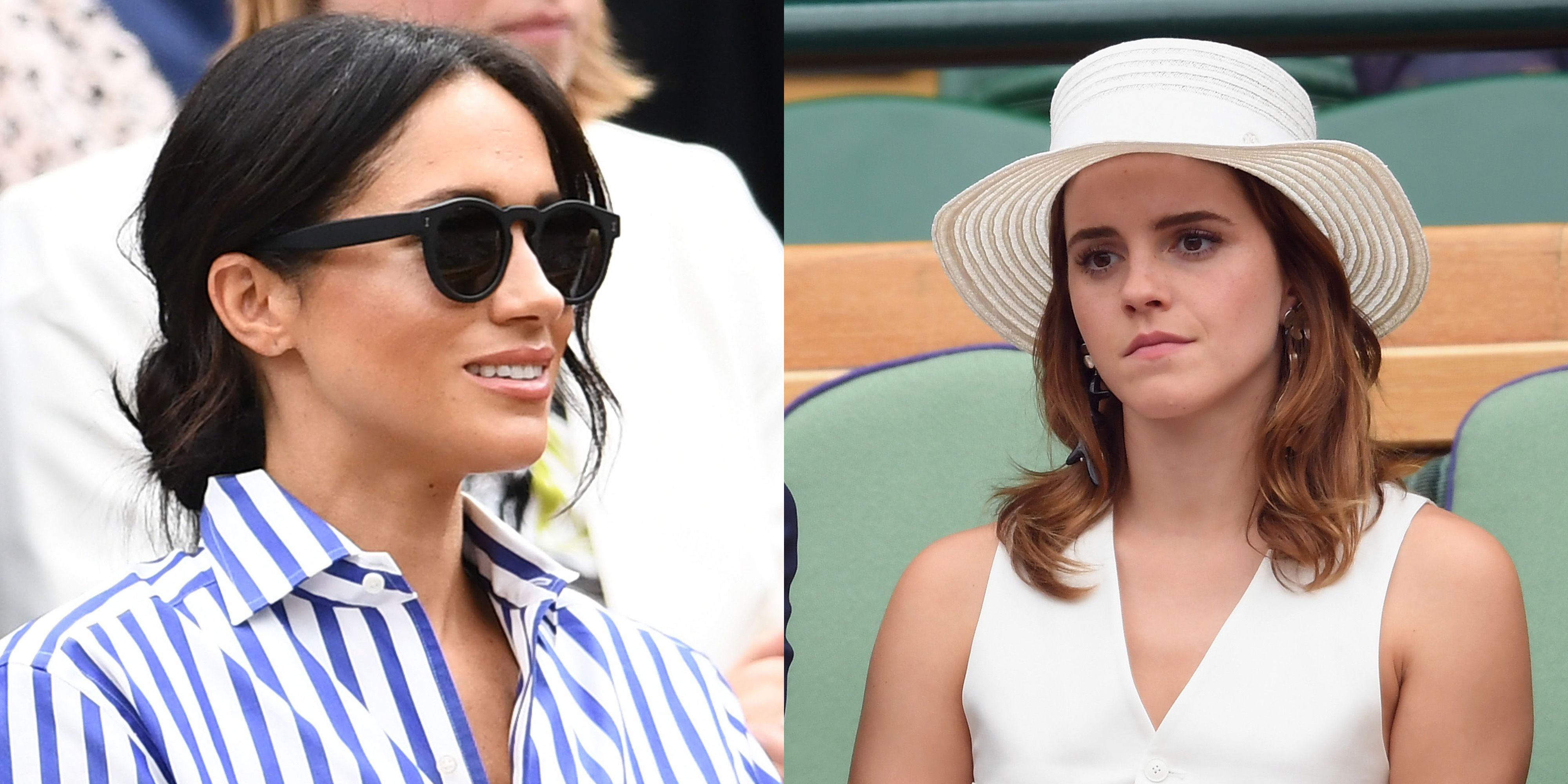 meghan markle and emma watson at wimbledon - meghan markle emma