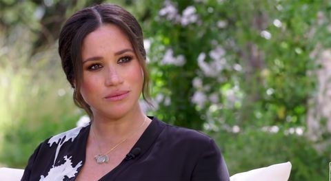meghan markle during interview with oprah winfrey