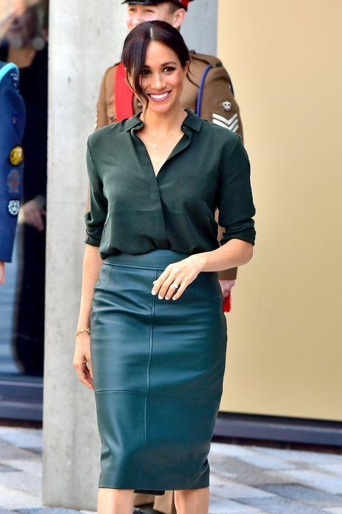 Meghan Markle wearing green