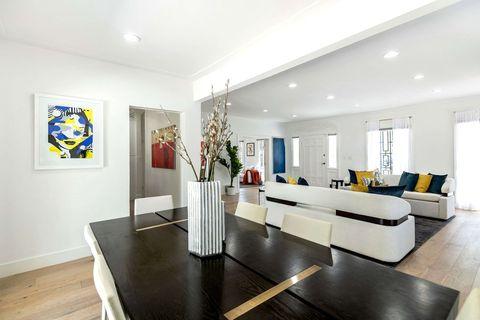 Room, Property, Interior design, Furniture, Living room, Building, Floor, Real estate, Ceiling, House,
