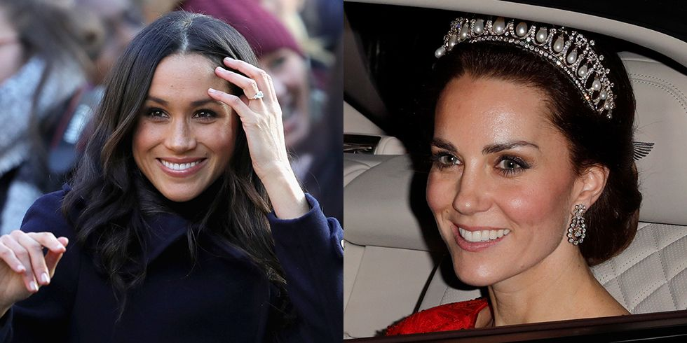 Here's Why Kate Middleton Can Wear a Tiara and Meghan Markle Can't