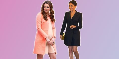 4188ea95865c5 Why Kate Middleton and Meghan Markle wear shorter dresses during pregnancy