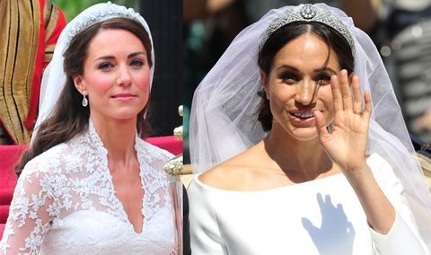 how meghan markle s royal wedding dress compared to kate middleton s royal wedding dress compared to kate