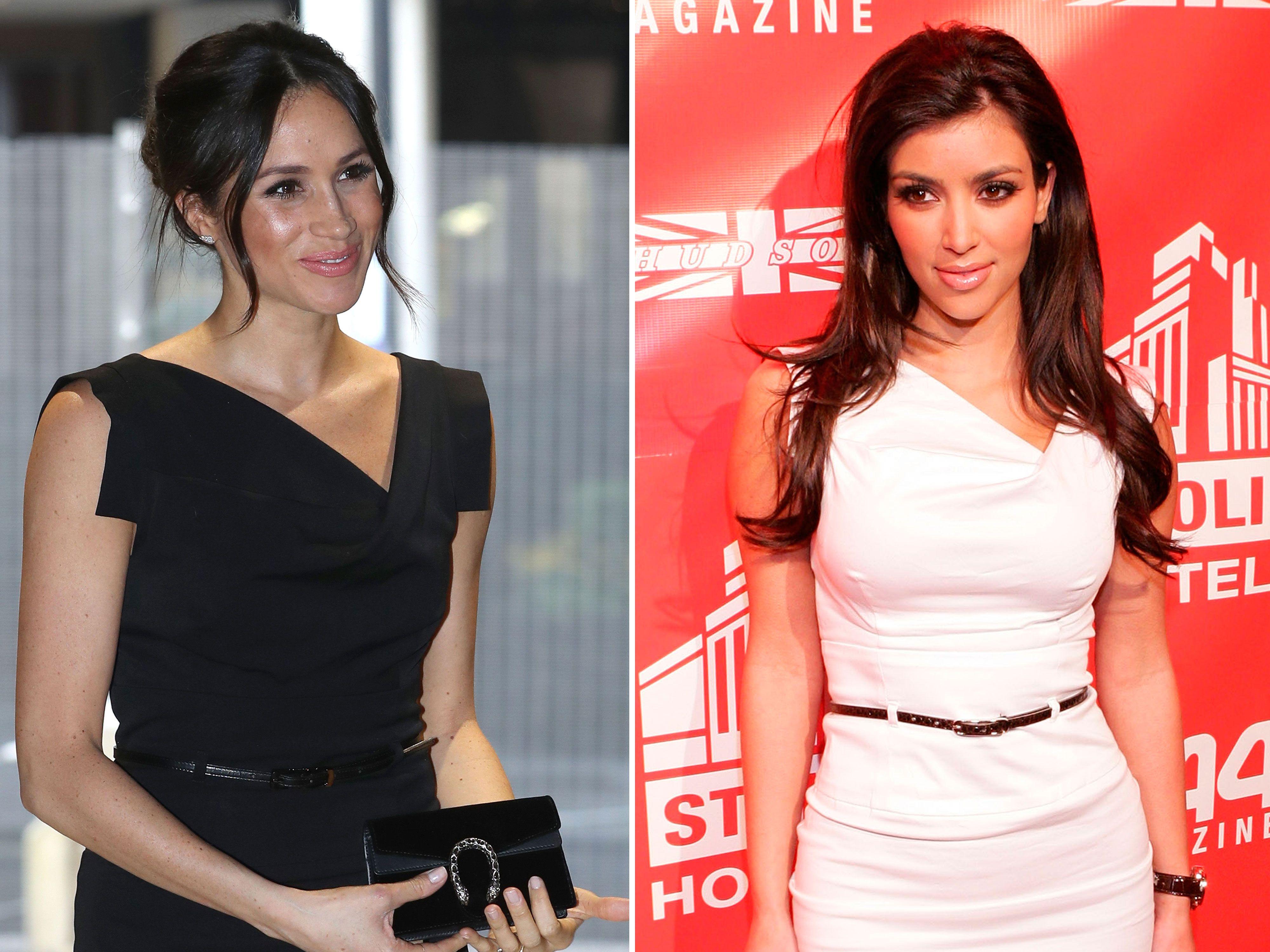 Meghan Markle wore the same dress as Kim Kardashian did in 2007 ...
