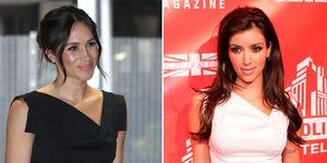 Meghan Markle and Kim Kardashian