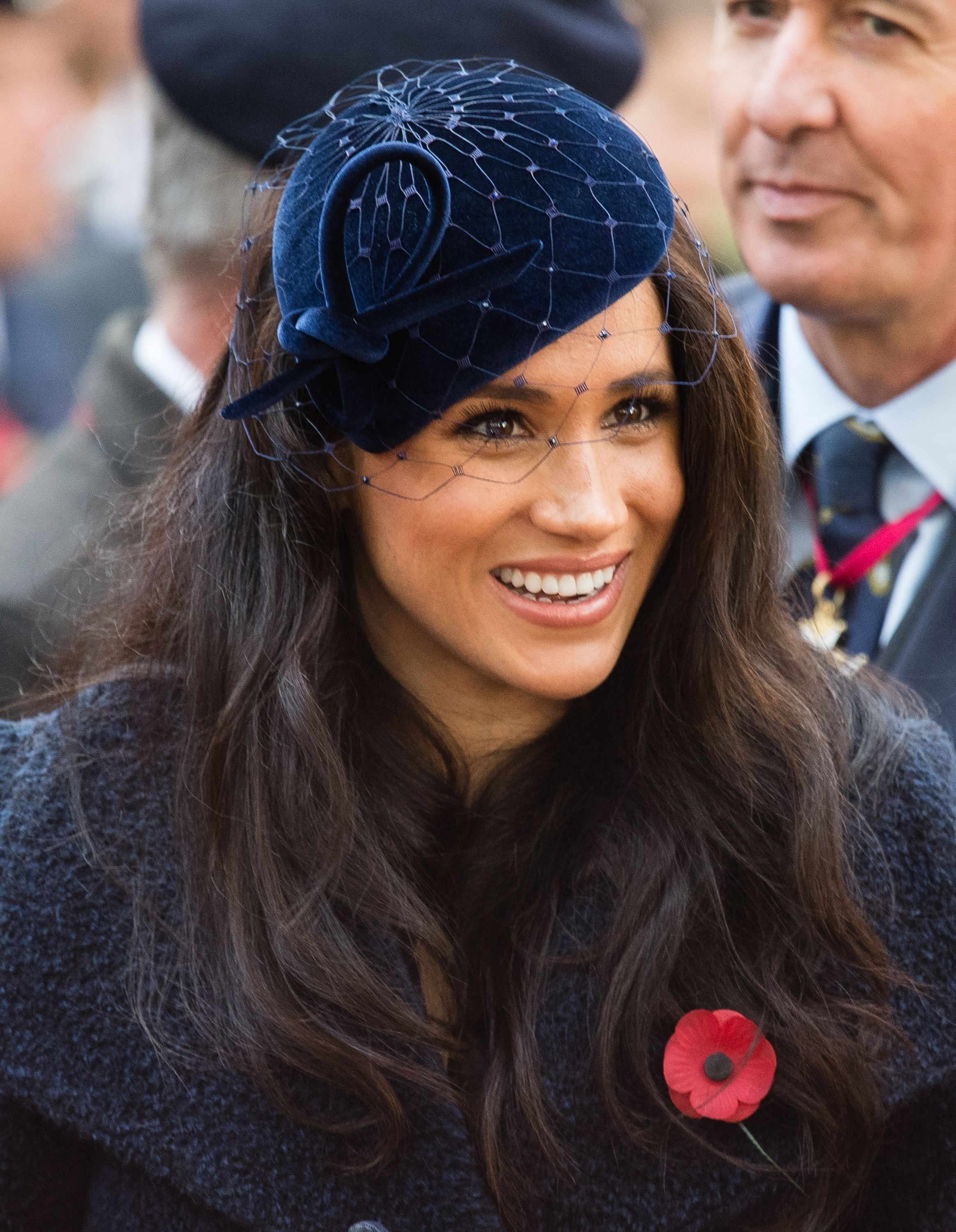How a veteran reacted when Meghan Markle smudged makeup on his coat