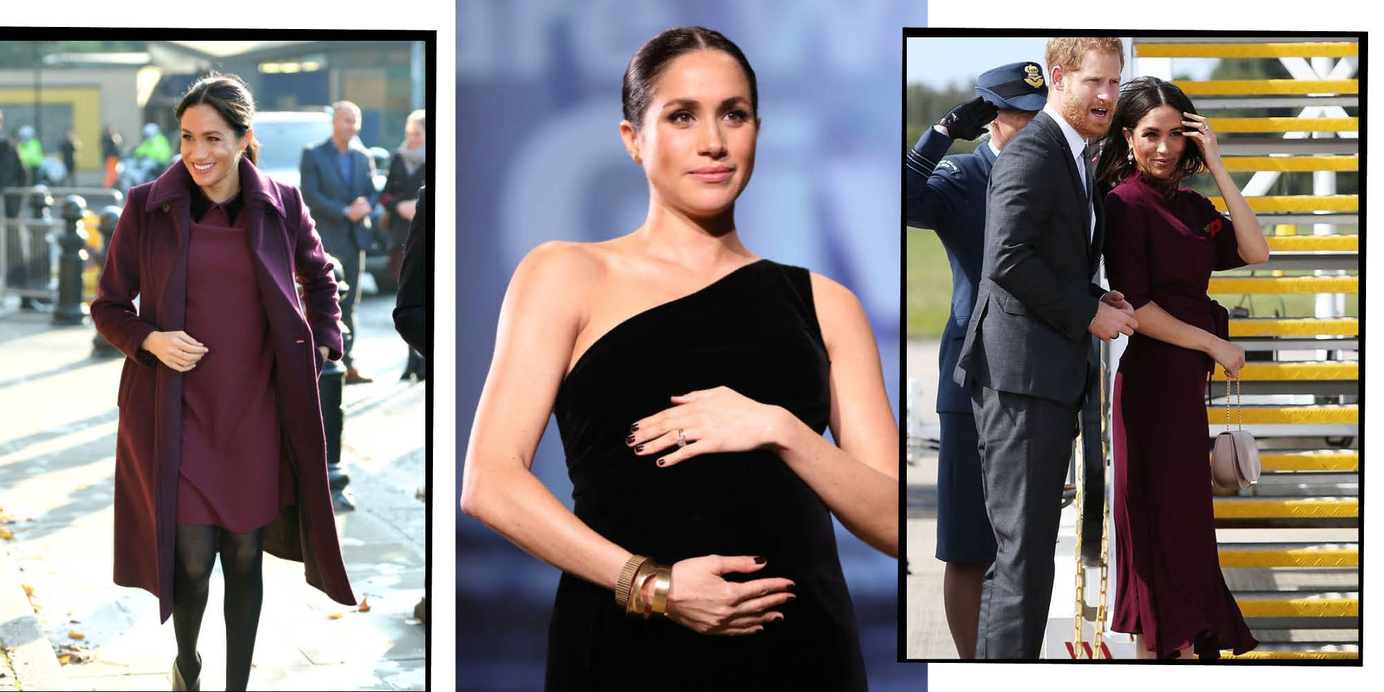 55c4207a0d1 Meghan Markle s Maternity Style - Charting Meghan s Baby Bump Style