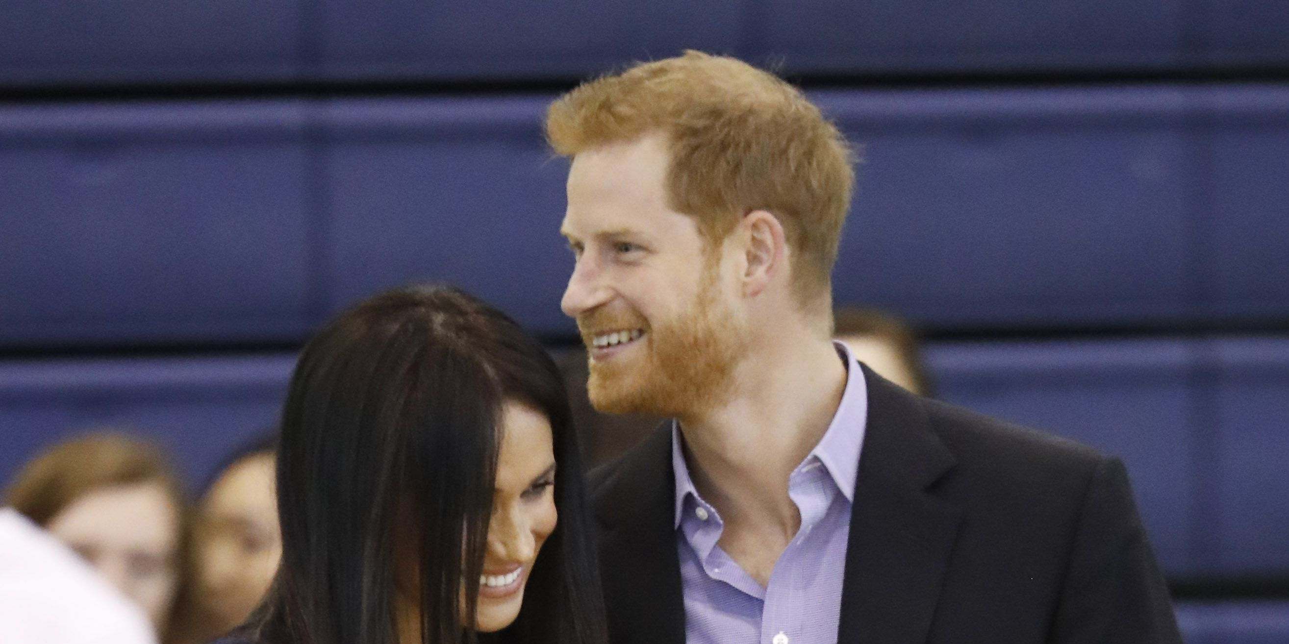 Prince Harry and Meghan Markle atat Loughborough University