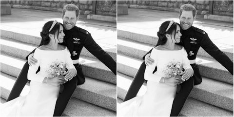 Meghan Markle Prince Harry Duke Duchess Sussex Royal Wedding Official Photograph Portrait