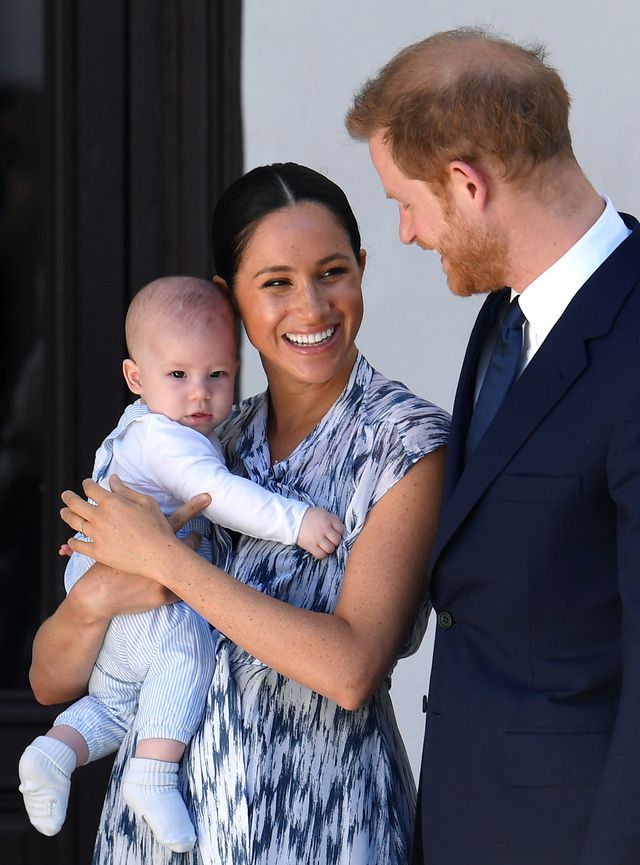 cape town, south africa   september 25 prince harry, duke of sussex, meghan, duchess of sussex and their baby son archie mountbatten windsor meet archbishop desmond tutu at the desmond  leah tutu legacy foundation during their royal tour of south africa on september 25, 2019 in cape town, south africa photo by toby melville   poolgetty images