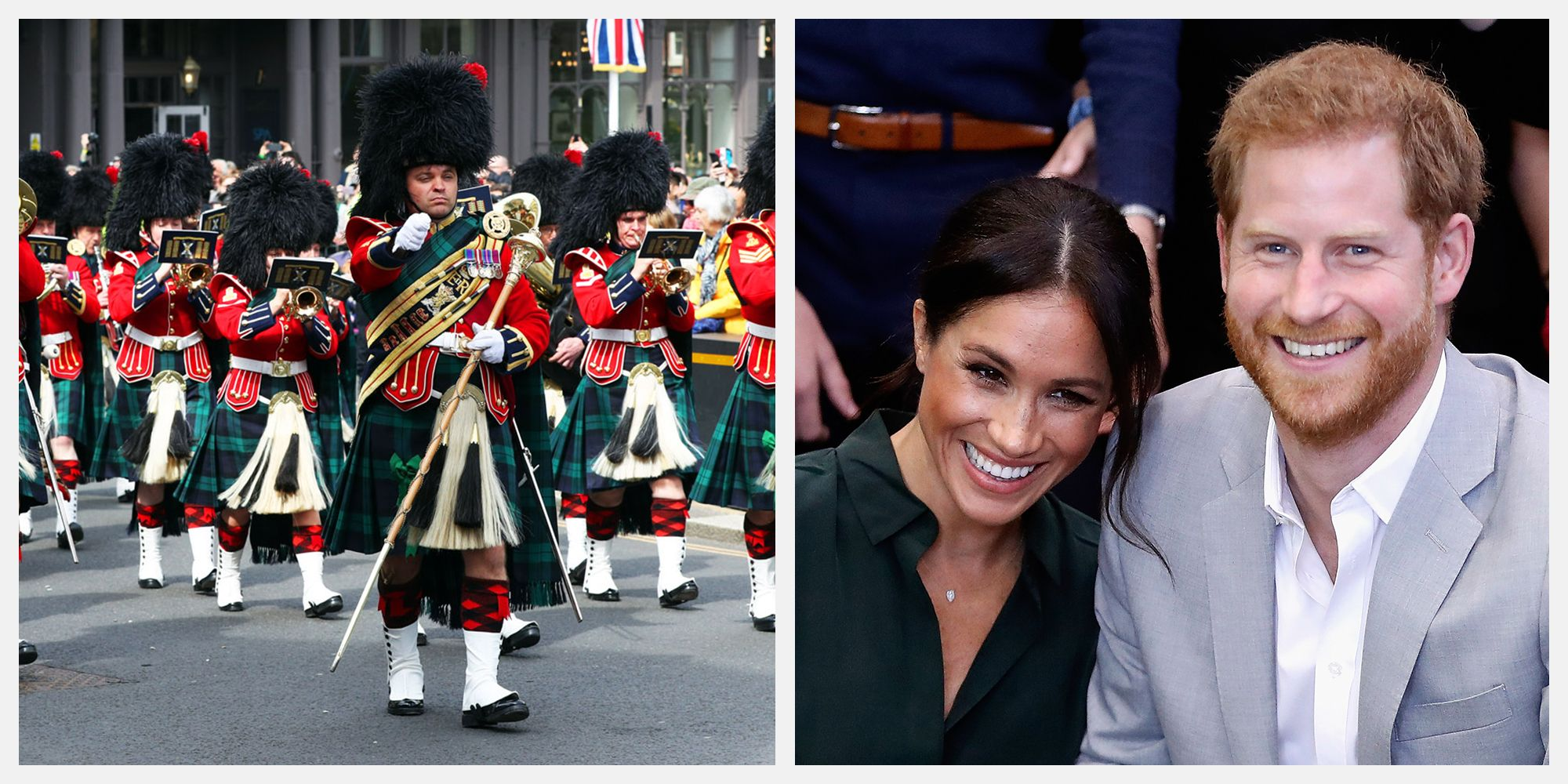 80c57b1fb05 Meghan Markle   Prince Harry s Baby Was Celebrated at Windsor Castle During  Changing of the Guard