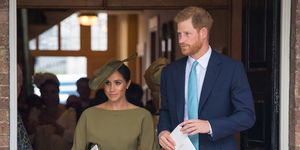 meghan markle prince louis christening green dress