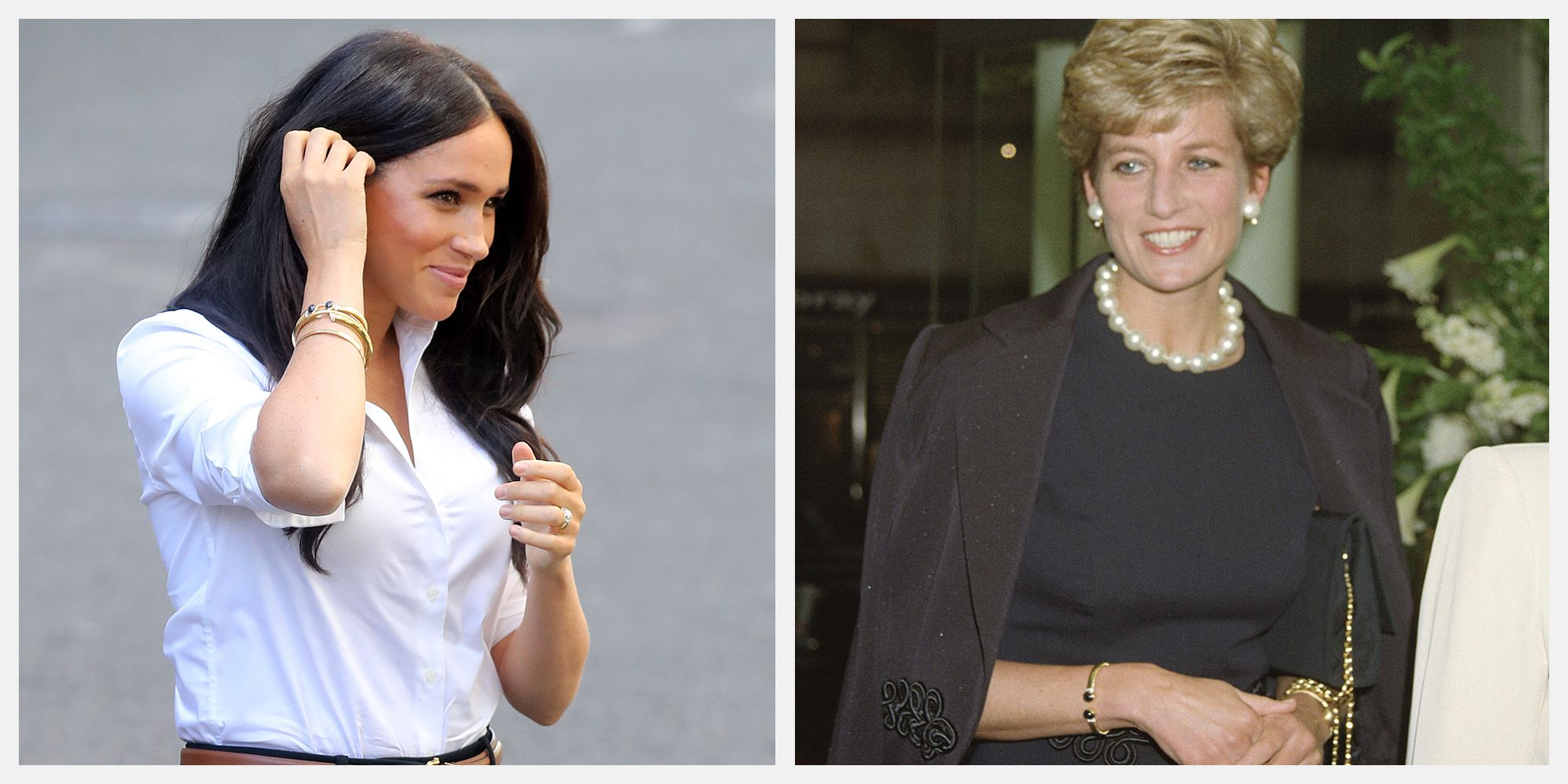 meghan markle wore princess diana s jewelry to fashion collection launch meghan markle wore princess diana s