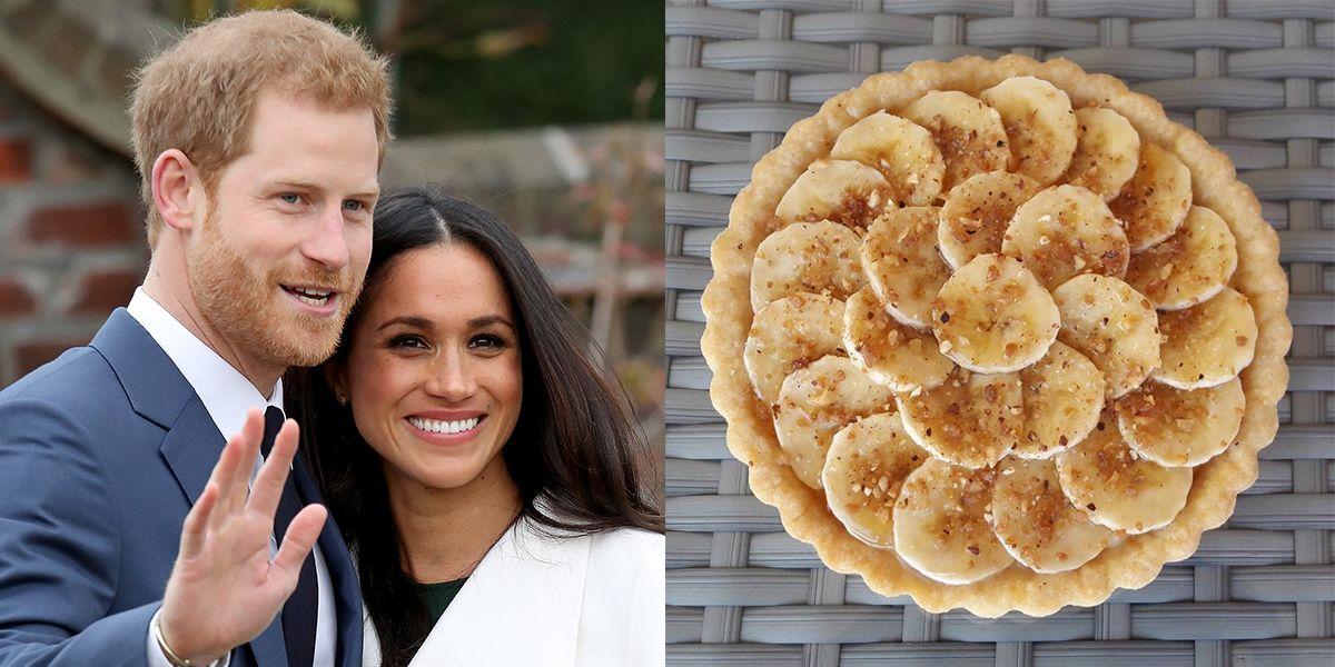 meghan markle principe harry menu matrimonio torta banane