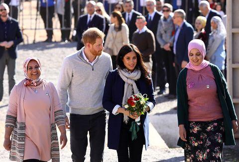 Meghan Markle y el príncipe Harry visitan Marruecos