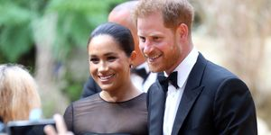 Prins Harry en Meghan Markle bij de Europese première van The Lion King.