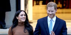 Meghan Markle en Prins Harry bij de Canadese Ambassade in Londen