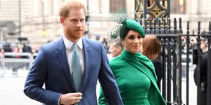 Meghan Markle en prins Harry bij deCommonwealth Day Service 2020 in Londen.