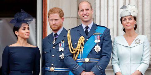 Meghan Markle, Prins Harry, Prins William, Kate Middleton