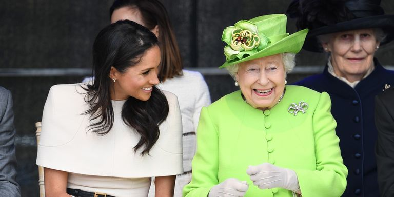 Image result for meghan markle and queen laughing together