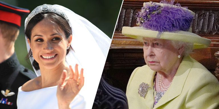 Meghan Markle and Queen Elizabeth at Royal Wedding