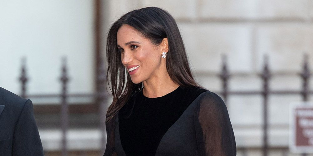Meghan Markle in Givenchy dress - Royal Academy Oceania Exhibition preview - Duchess of Sussex