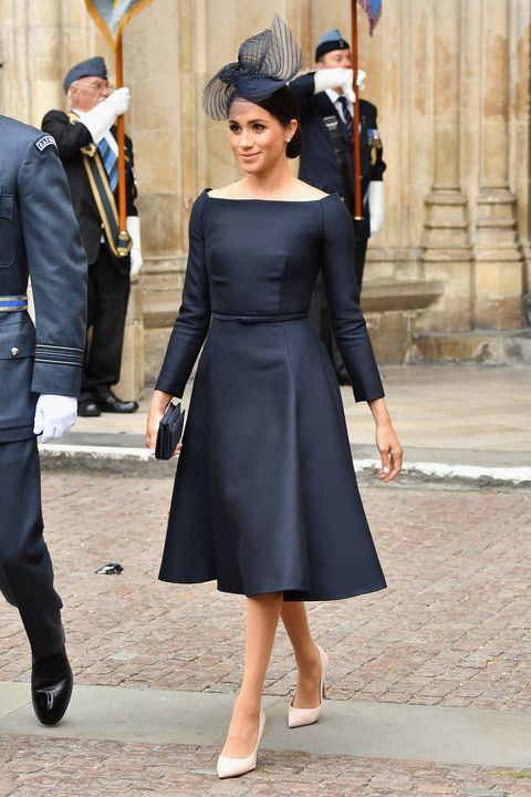 Meghan Markle Wears Black Dress to Royal Air Force Celebration