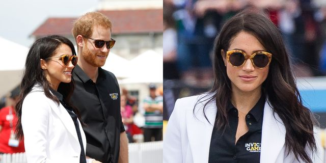 df1bcde65bcd Meghan Markle   Prince Harry on Cockatoo Island at Invictus Games Wearing  Illesteva Shades