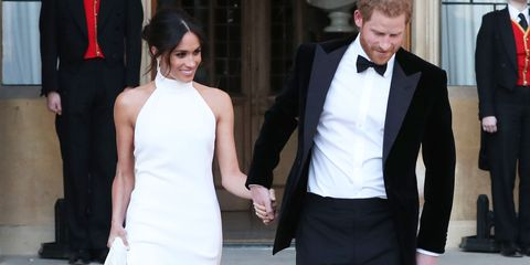 See Meghan Markle S Wedding Reception Dress Meghan Markle Second