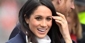 Meghan Markle met haar verlovingsring
