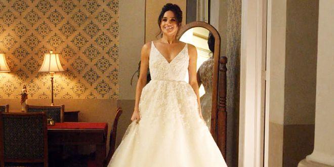 vestido de novia que uso megan